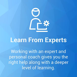 Learn form experts from personal coaching