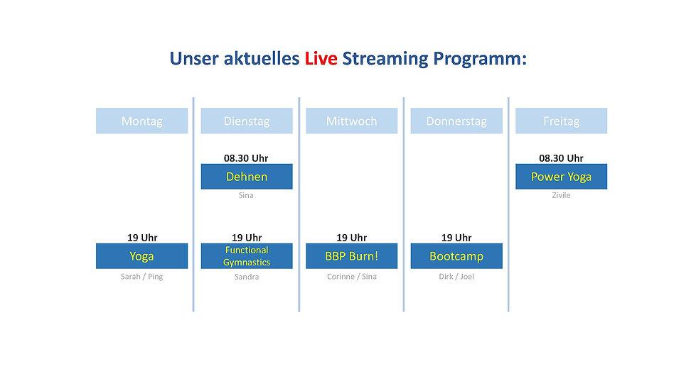 Live Stream Kursprogramm