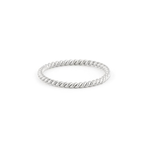 Braided Ring in Silver-Delicate