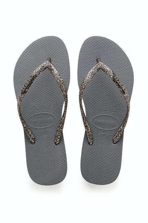 Slim Metallic flip flop Grey
