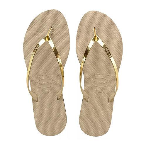 You Metallic Sandal Gold