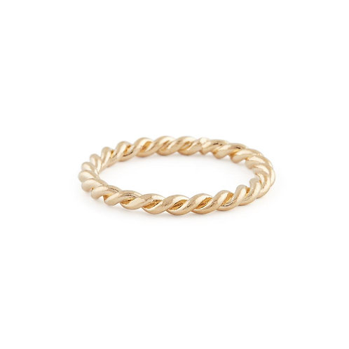 Braided Ring In Gold- Bold