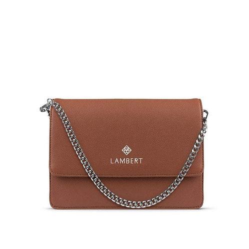 EMMA- Vegan leather purse tan