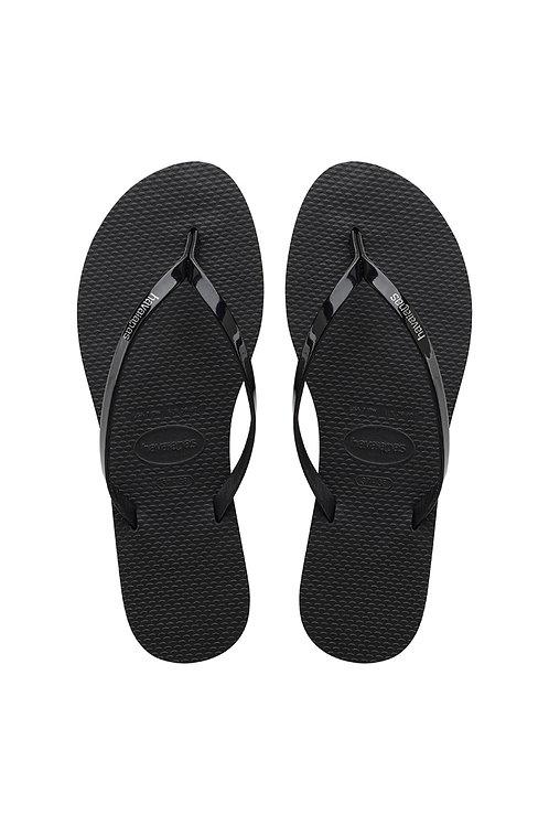 You Metallic Sandal Black
