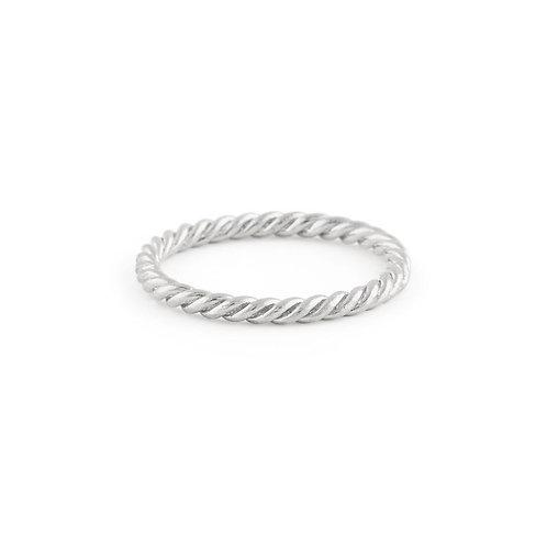 Braided Ring in Silver- Regular