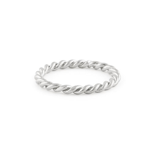 Braided Ring in Silver- Bold