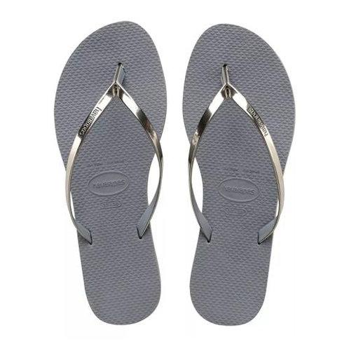 You Metallic Silver Sandal