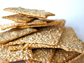 Homemade Oat & Chickpea Crackers