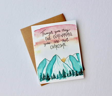 Not Overcome Card