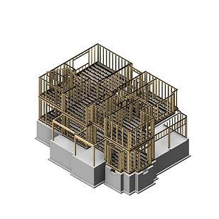 BIM Wood Frame Model