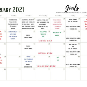 Ansley first 1k, Feb and March Publishing Schedules