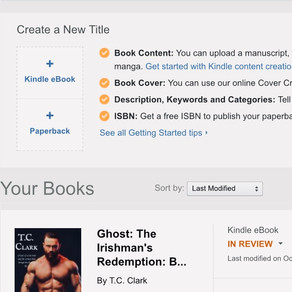 Author Update: Ghost Submitted to Amazon :) + Preview of Nikos: The Greek's Downfall....