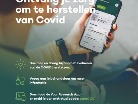 Fysio Woldmeenthe doet mee met het onderzoek naar de herstelzorg bij COVID-19!