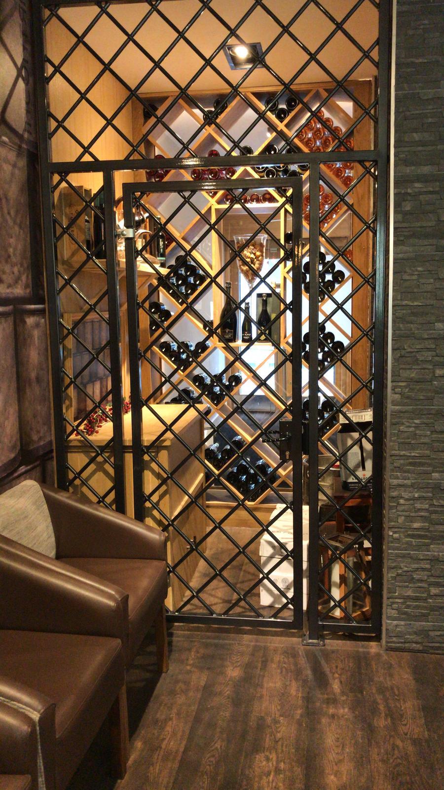 Bespoke wine cellar gates