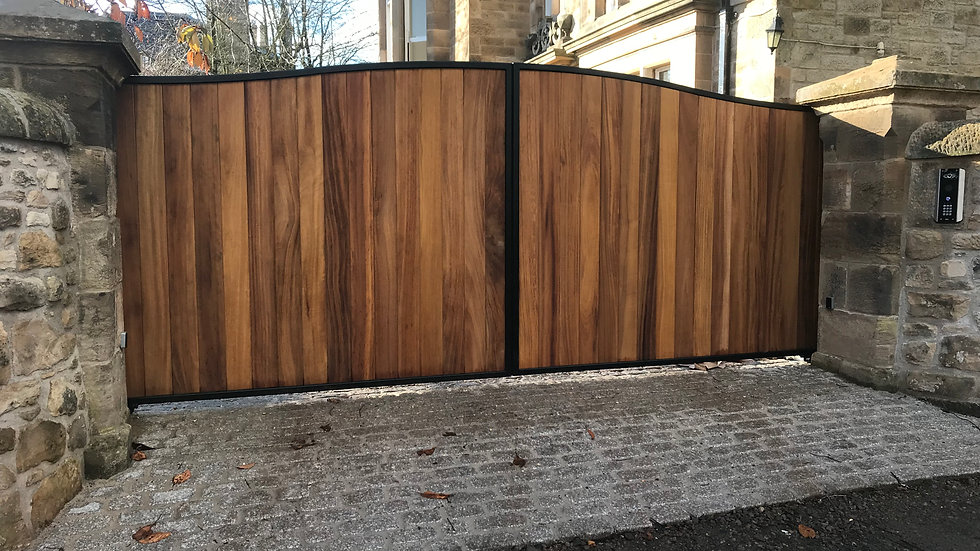 Dunbar Style Iroko Double Swing Gate