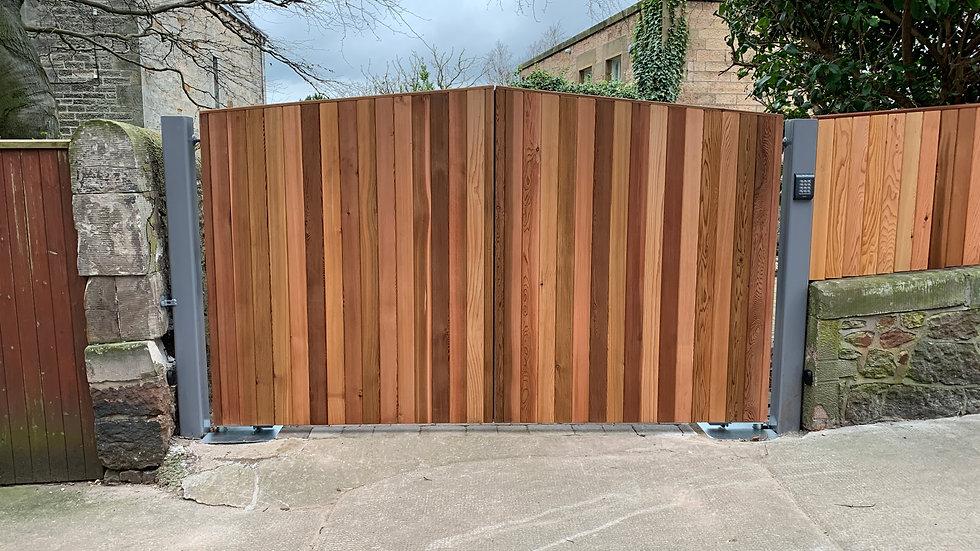 Berwick Style Cedar Double Swing Gate