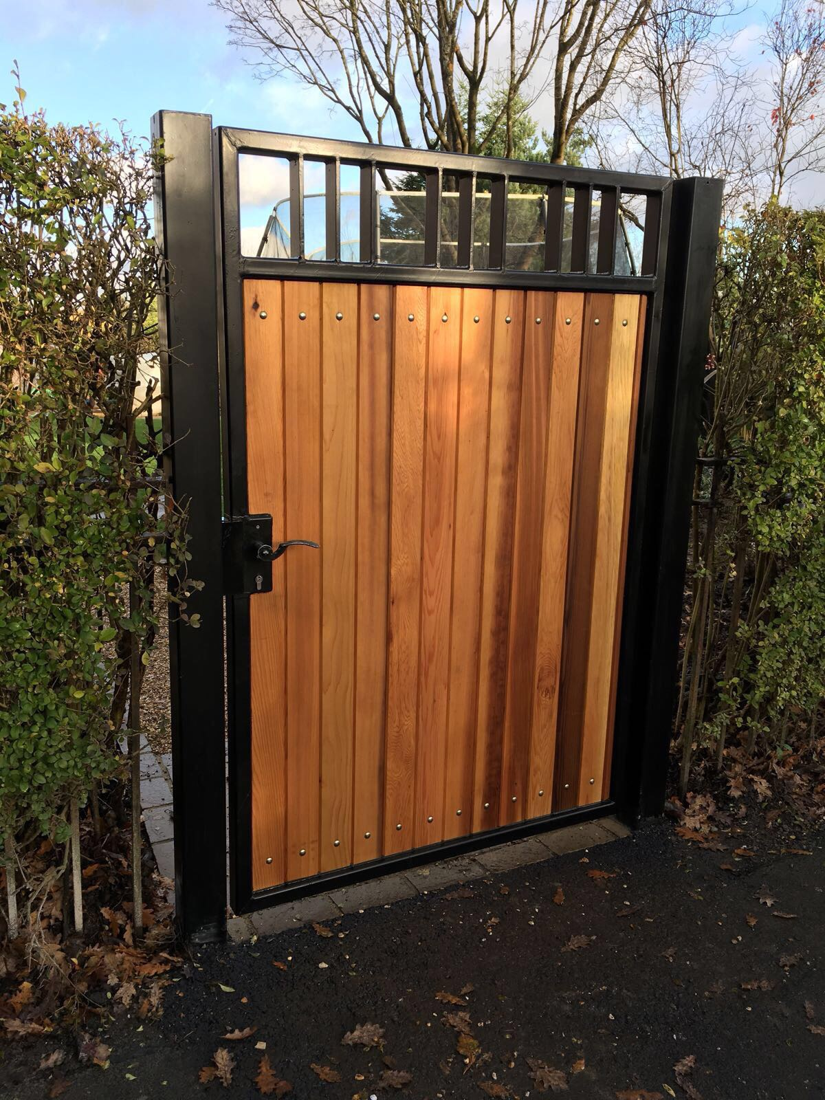 Steel & Wood Pedestrian Gate