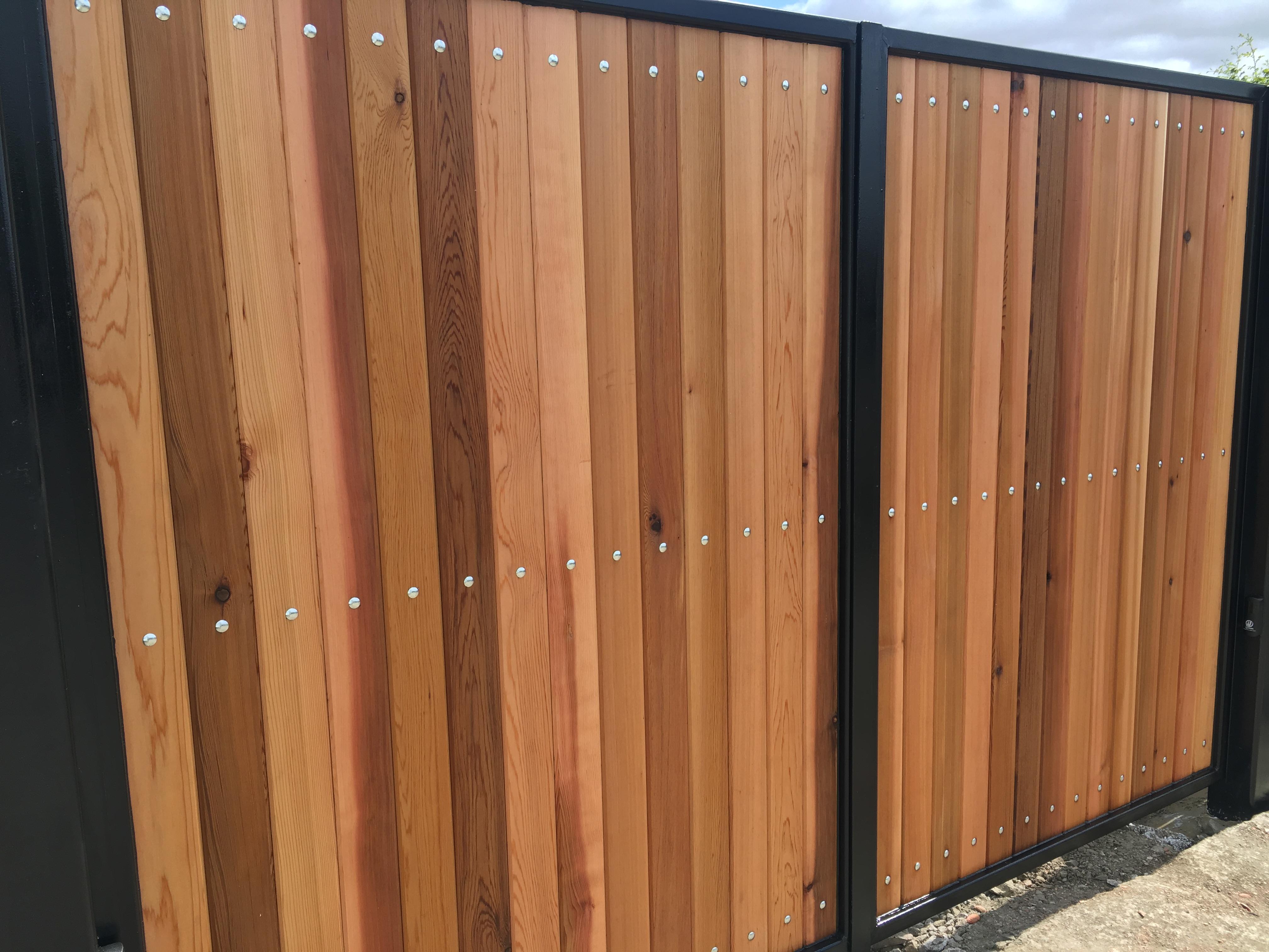 Steel & Cedar Driveway Gates