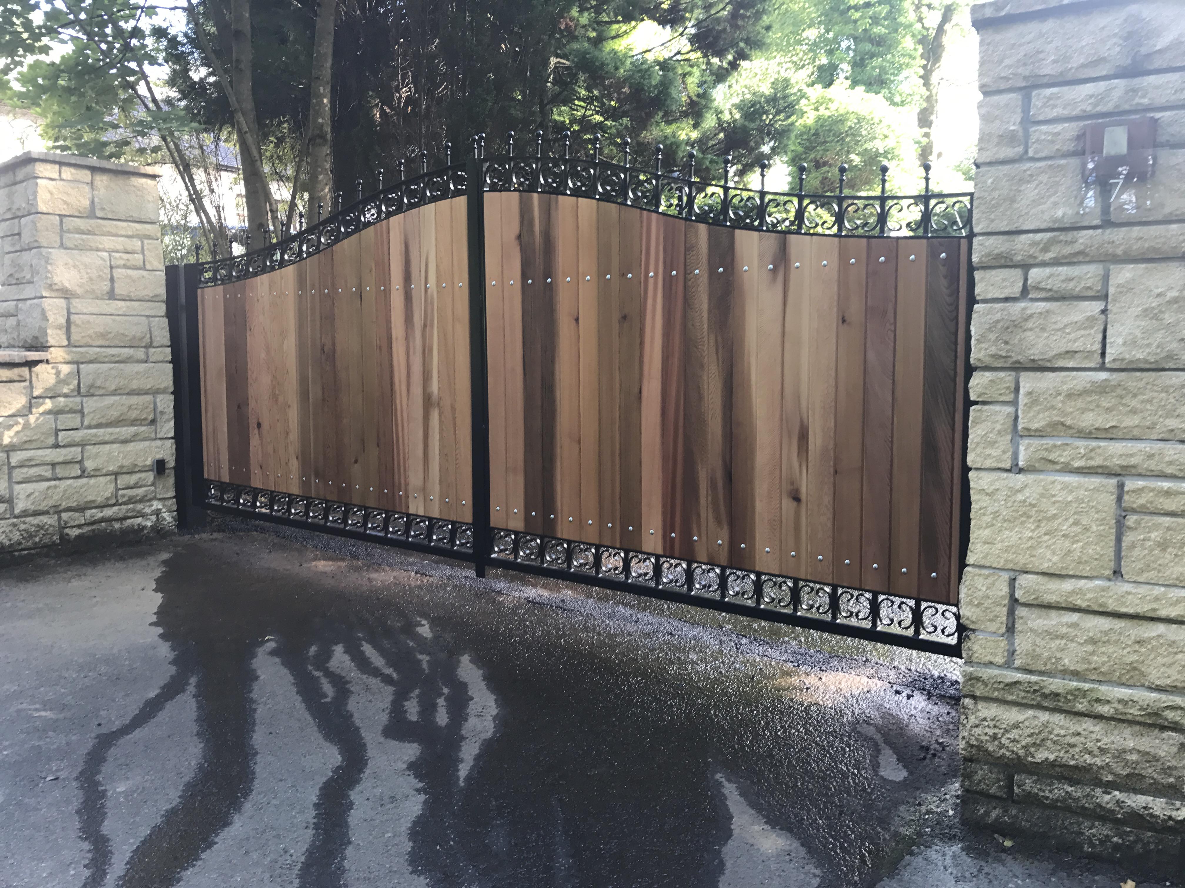 Steel & Wood Driveway Gates