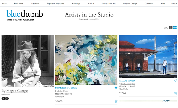 Curation - artists in studio January 202