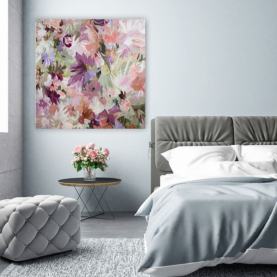 Candy-Blooms---pastel-floral-painting-by