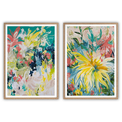 STUNNING PAIRS | Summertime Blooms and Big Yellow Flower