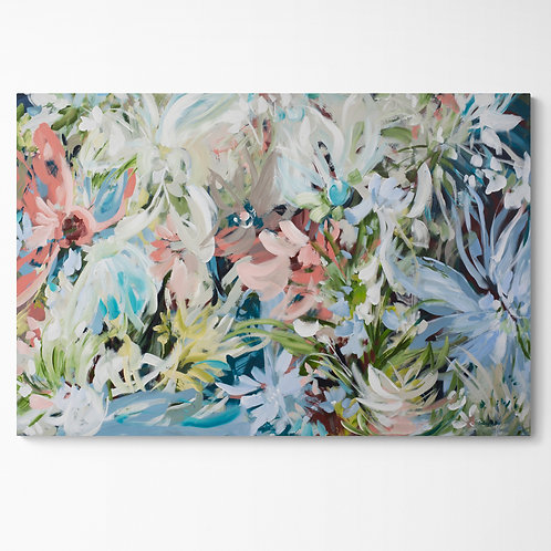 Floral Radiance - Large Flower Abstract Painting