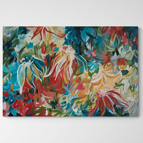 Fiery Tropics - Large Abstract