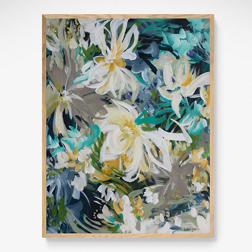 Tropical Tranquility - Tropical Flower Landscape Painting
