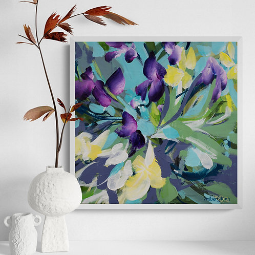 Iris Trail - Small Floral Painting