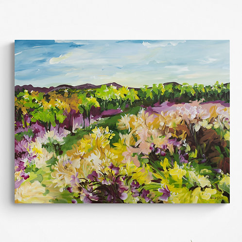 Fields in Springtime - Colourful Impressionist Landscape