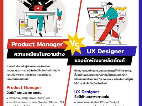 Product Manager VS. UX Designer - ความเหมือนในความต่างของนักพัฒนาผลิตภัณฑ์