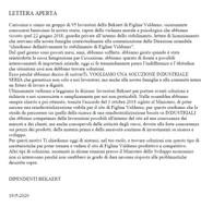 Bekaert - La lettera dei 100