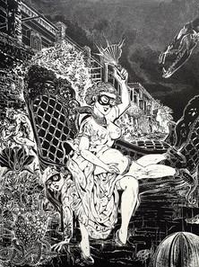 Linogravure de Florence Poirier Nkpa