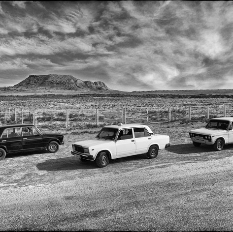 3 cabs in the desert (Gregory Herpe, 2019)