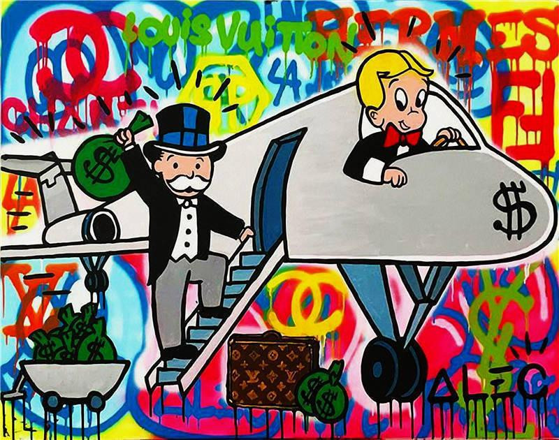 The emblematic characters of Alec Monopoly