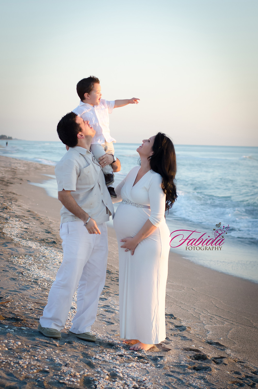 Family/Maternity Session on a beach in Sarasota