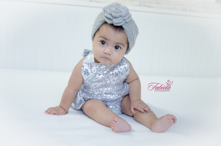 Baby at her six month photo session