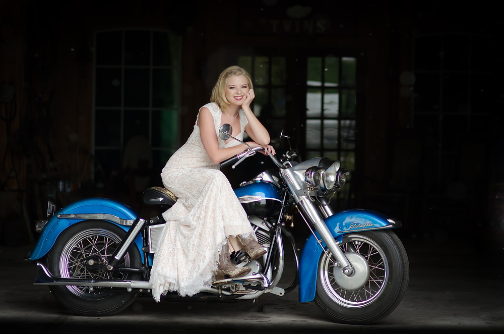 Bride on a Harley