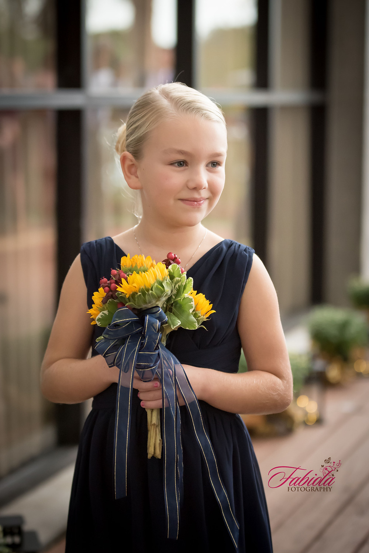 The pretty flower girl