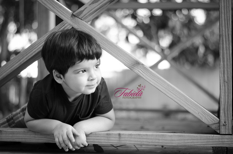 I love this shot of Oliver in our tree house at my Sarasota backyard studio.