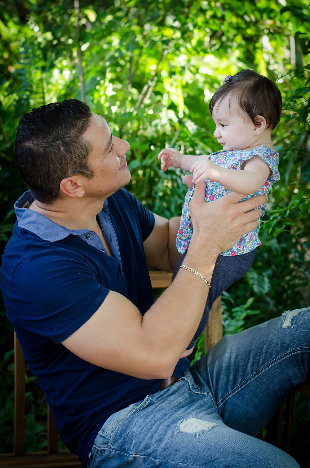 Happy father with Baby Maria