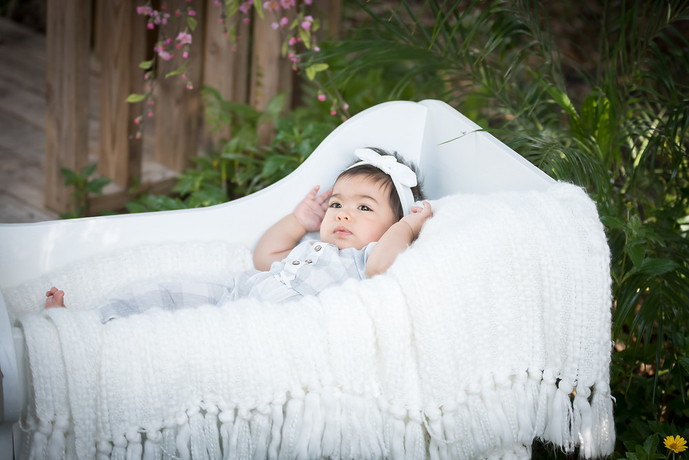 Outside Baby Photo in Fabiola Fotography Studio
