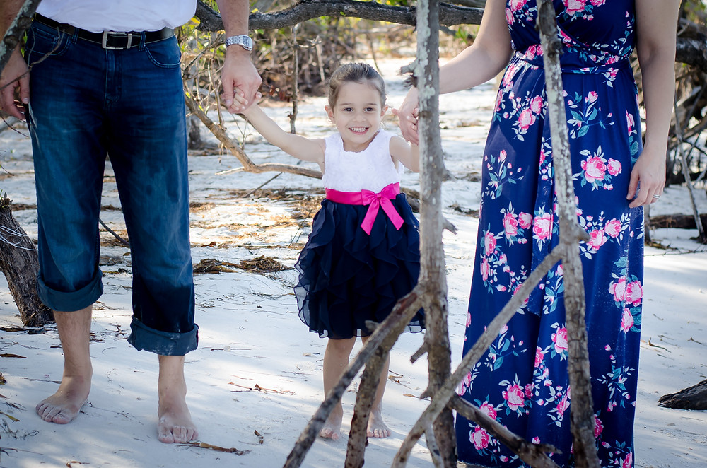 Three year old Gianna in Sarasota for pictures