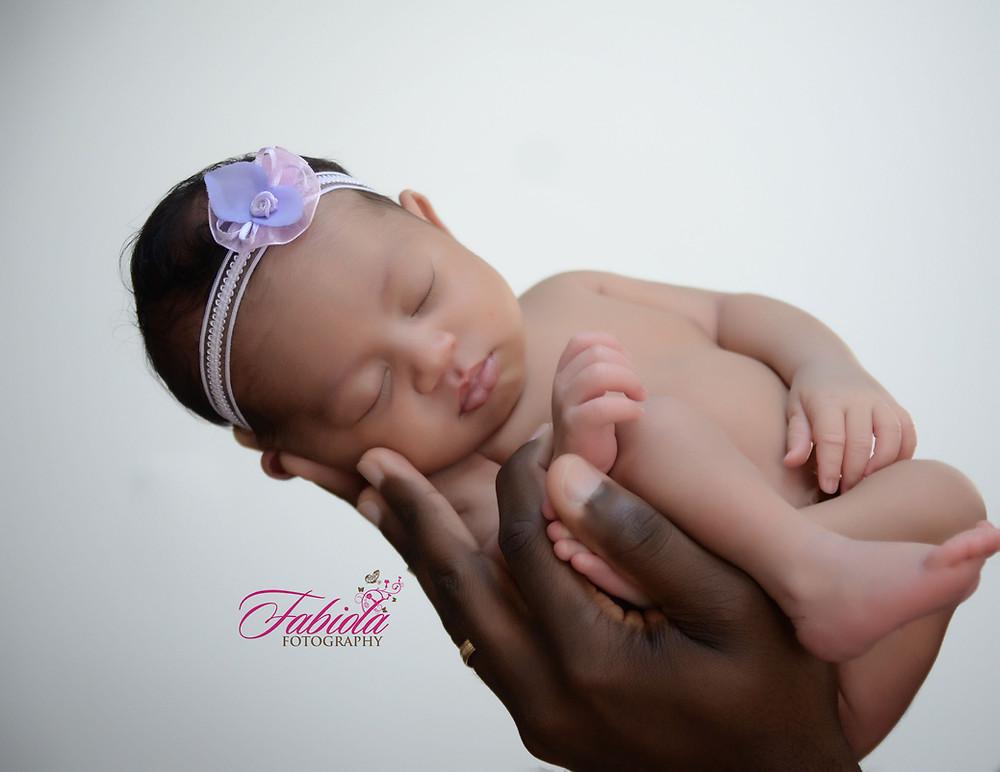 Newborn Photo taken in Fabiola's boutique studio