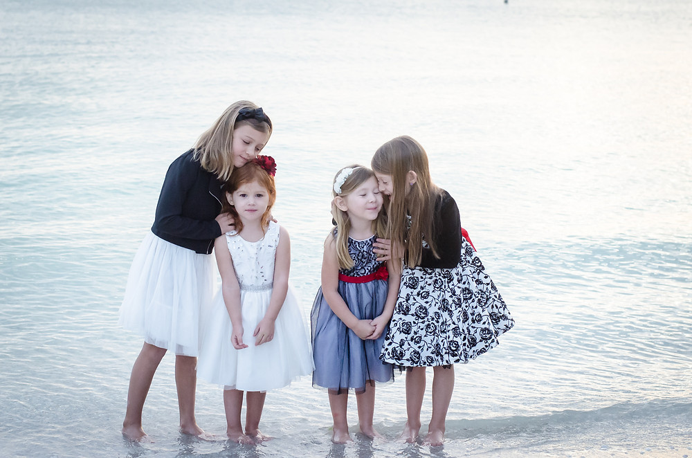 sisters on the beach photo
