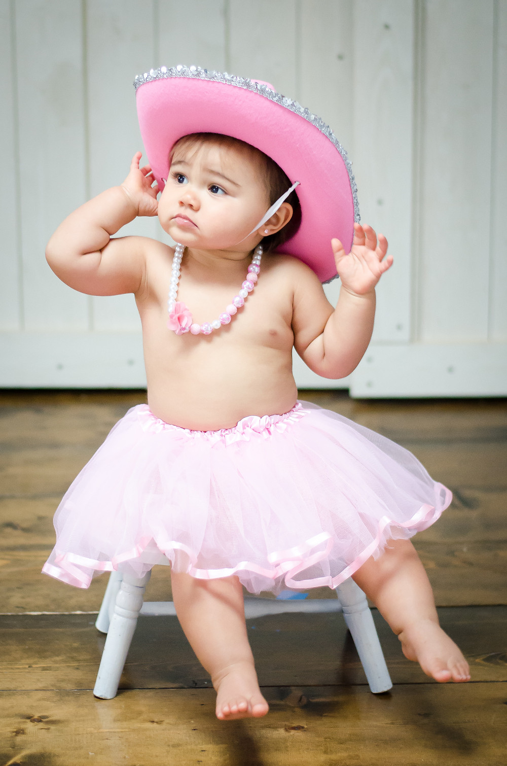 Seriously? Pink tutu and pink cowgirl hat! Gotta love it!!