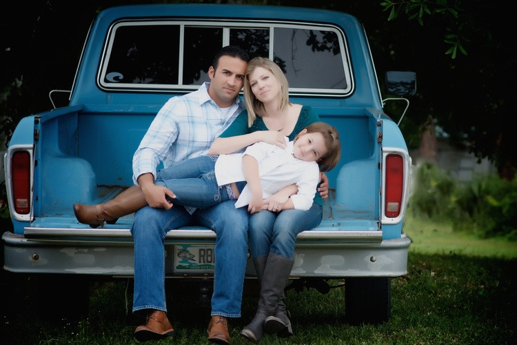 photo taken a couple years back of my son and his family in the truck in Sarasota