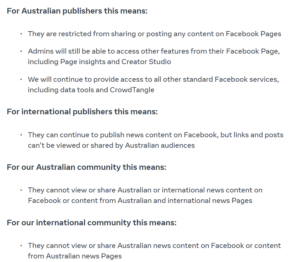 "Facebook ""unfriends"" Australia: It's time to be more creative in your Digital Marketing strategy"