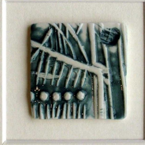 tile imprinted handcarving